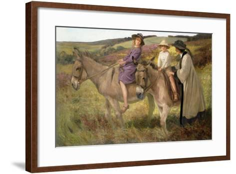The Donkey Ride, 1912-George Edmund Butler-Framed Art Print
