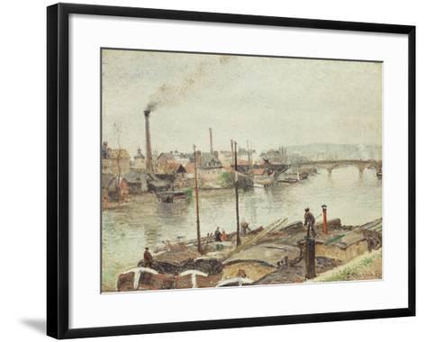The Port of Rouen, 1883-Camille Pissarro-Framed Art Print