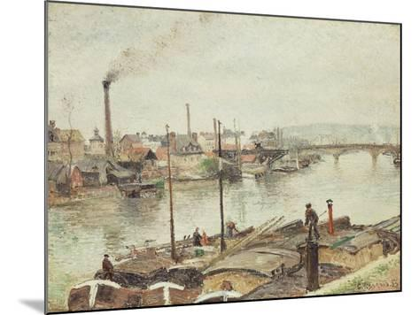 The Port of Rouen, 1883-Camille Pissarro-Mounted Giclee Print