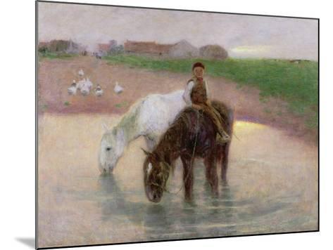 The Horse Pond, C.1890-Edward Stott-Mounted Giclee Print