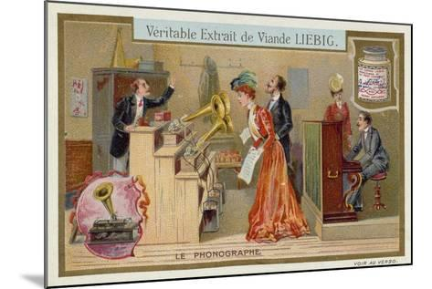 The Phonograph--Mounted Giclee Print