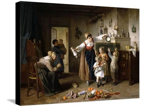 Christmas Morning-Paul Seignac-Stretched Canvas Print