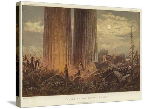 Temple of the Giants in Sicily-George Henry Andrews-Stretched Canvas Print