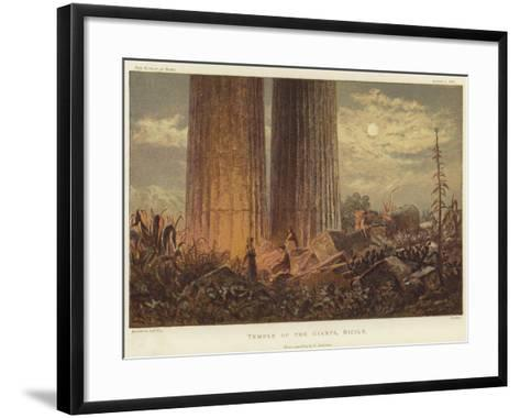 Temple of the Giants in Sicily-George Henry Andrews-Framed Art Print