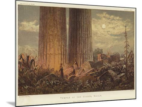 Temple of the Giants in Sicily-George Henry Andrews-Mounted Giclee Print