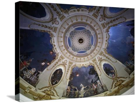 Ceiling of Rotunda Painted by Francois Coty--Stretched Canvas Print