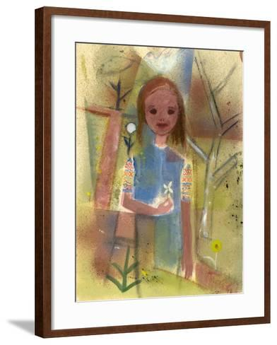 Child with a Dove, C.1940-45-Anneliese Everts-Framed Art Print