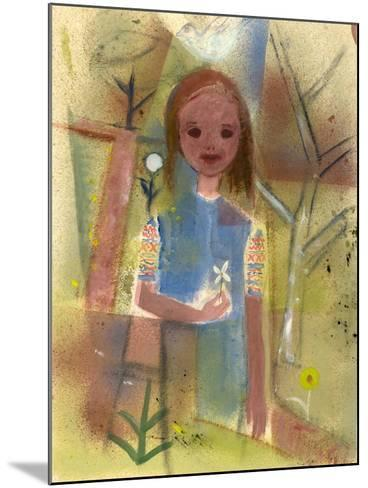 Child with a Dove, C.1940-45-Anneliese Everts-Mounted Giclee Print