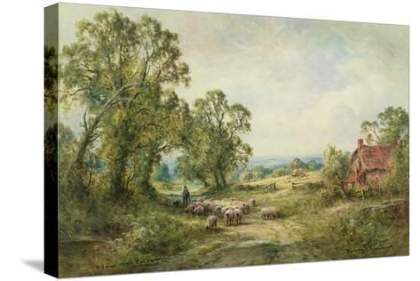 A Lane Near Pulborough-Henry John Kinnaird-Stretched Canvas Print