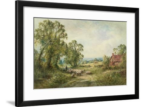 A Lane Near Pulborough-Henry John Kinnaird-Framed Art Print
