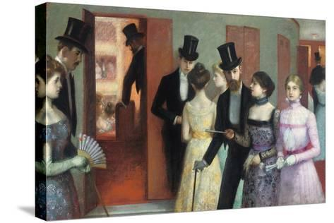 Soiree at the Opera, C.1900-Ernest Rouart-Stretched Canvas Print