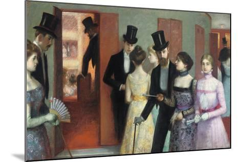 Soiree at the Opera, C.1900-Ernest Rouart-Mounted Giclee Print