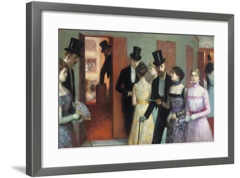 Soiree at the Opera, C.1900-Ernest Rouart-Framed Art Print