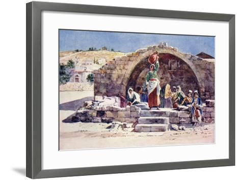 The Fountain of the Virgin, Nazareth, C.1910--Framed Art Print
