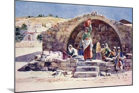 The Fountain of the Virgin, Nazareth, C.1910--Mounted Giclee Print