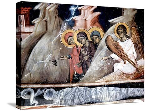 The Three Marys at the Tomb--Stretched Canvas Print