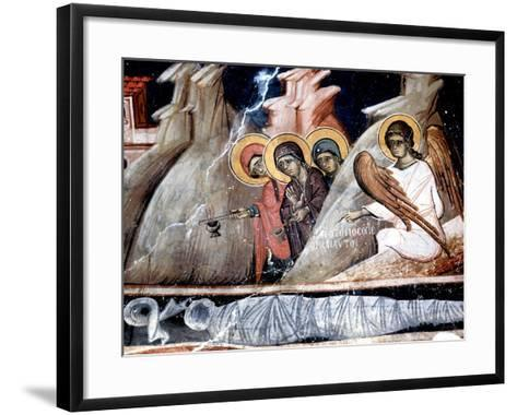 The Three Marys at the Tomb--Framed Art Print