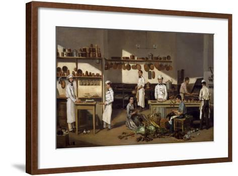 Inside Cafe De Paris-Jean Leon Palliere-Framed Art Print