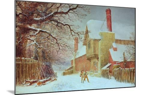 Snowballing at Tiddlington-William W. Quatremain-Mounted Giclee Print