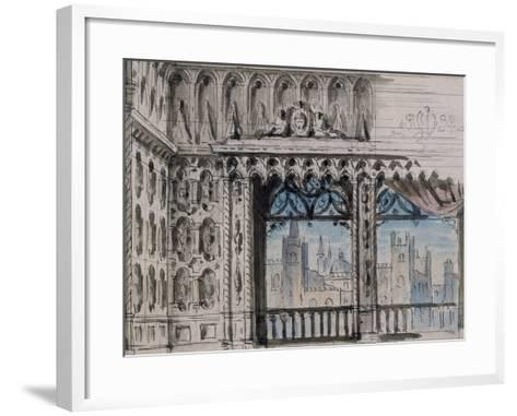Set Design-Pietro Bertoja-Framed Art Print