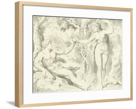 Adam and Eve-Frans The Elder Floris-Framed Art Print