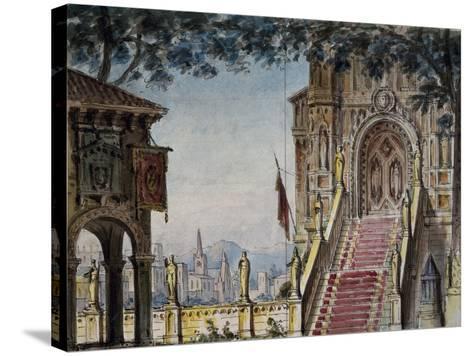 Set Design-Pietro Bertoja-Stretched Canvas Print