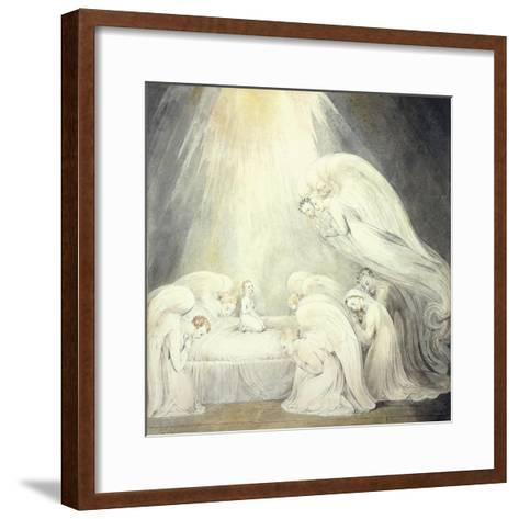 The Infant Jesus Saying His Prayers, C.1805-William Blake-Framed Art Print