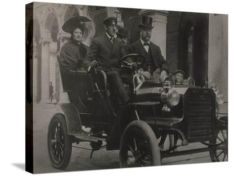 President Taft in Car, C.1909-13--Stretched Canvas Print