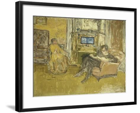 Study for a Portrait of Mr, C.1916-Edouard Vuillard-Framed Art Print