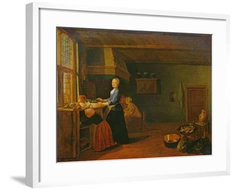 Kitchen Interior-Hendrik Martensz Sorgh-Framed Art Print
