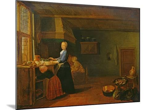 Kitchen Interior-Hendrik Martensz Sorgh-Mounted Giclee Print