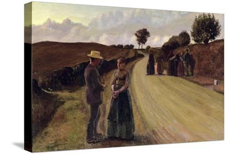 Love Making in the Evening, 1889-91-Fritz Syberg-Stretched Canvas Print
