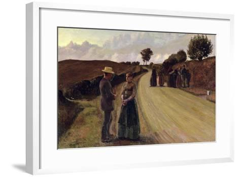 Love Making in the Evening, 1889-91-Fritz Syberg-Framed Art Print