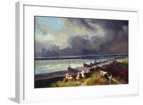 View of Dieppe-Louis Eugene Gabriel Isabey-Framed Art Print