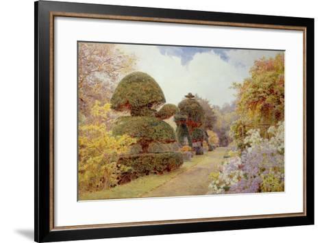 Barncluith, Lanarkshire, 1900-George Samuel Elgood-Framed Art Print