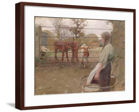 Feeding Time, 1908-Harold Harvey-Framed Art Print