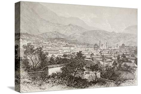 Overall View of Bogota, Colombia-English School-Stretched Canvas Print