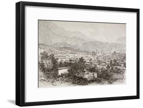 Overall View of Bogota, Colombia-English School-Framed Art Print