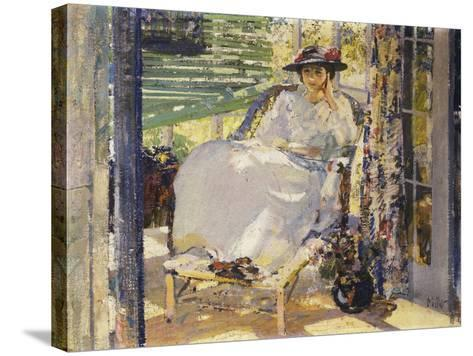 In the Sunroom-Richard Edward Miller-Stretched Canvas Print