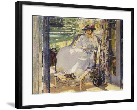 In the Sunroom-Richard Edward Miller-Framed Art Print