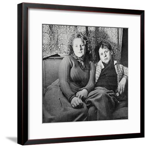 Dylan Thomas--Framed Art Print