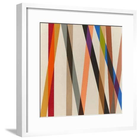 Candy Stripe II, 1987-Michael Canney-Framed Art Print