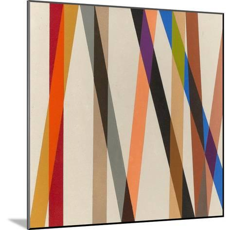 Candy Stripe II, 1987-Michael Canney-Mounted Giclee Print