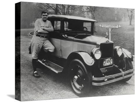 Babe Ruth in Vancouver, Canada--Stretched Canvas Print