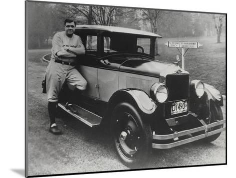 Babe Ruth in Vancouver, Canada--Mounted Photographic Print