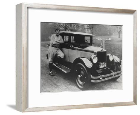 Babe Ruth in Vancouver, Canada--Framed Art Print