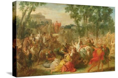 Study for Rape of the Sabines-Gabriel Francois Doyen-Stretched Canvas Print