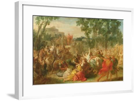 Study for Rape of the Sabines-Gabriel Francois Doyen-Framed Art Print
