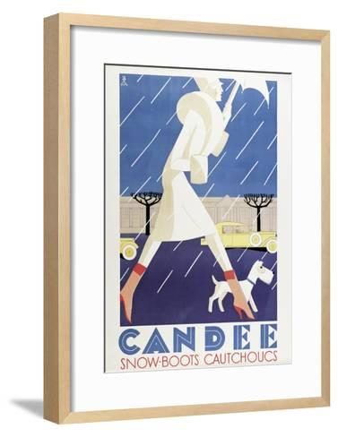 Poster Advertising 'Candee' Snowboots, 1929--Framed Art Print
