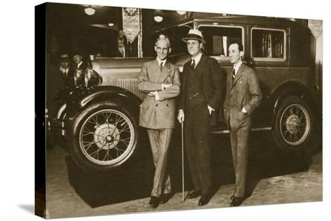 Enter the New Ford, 1927--Stretched Canvas Print